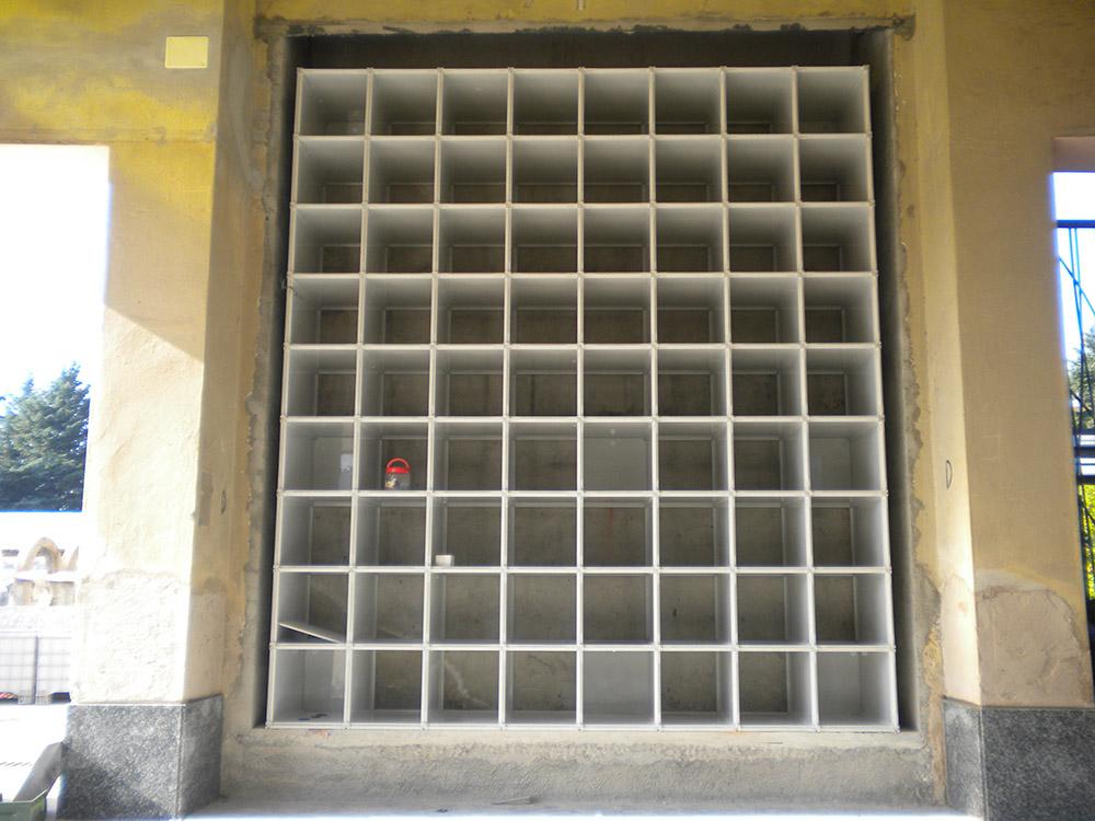 Q box Cinerari in vetroresina 4040 e 4070